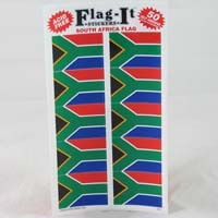 "African Hut Stickers South African Flag (10 Sticker per Sheet) 1.5"" 3g"