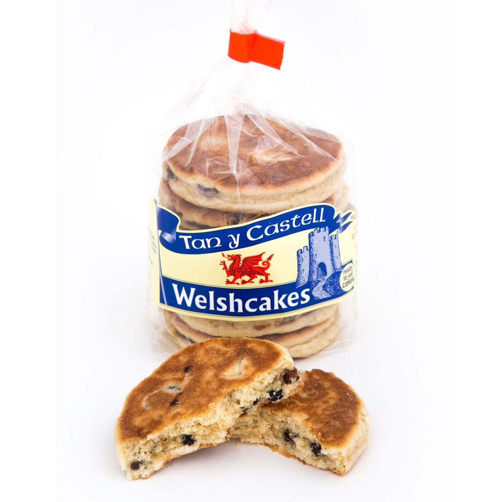 Tan Y Castell Welsh Cakes (Defrost and Ready to Eat) (Pack of 6 Cakes) 240g