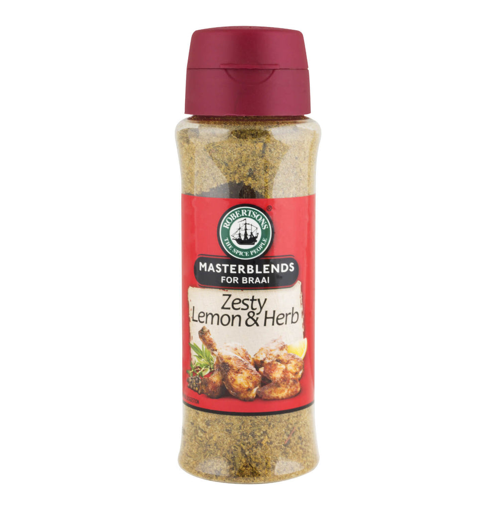 Robertsons Spice - Masterblends for Braais - Zesty Lemon and Herb (Kosher) 200ml
