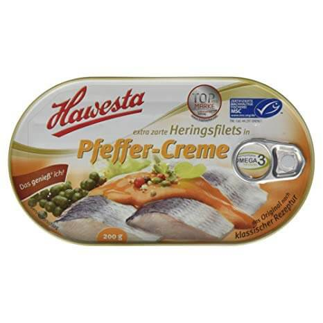 Hawesta Hering Filets in Pleffer-Creme 200g
