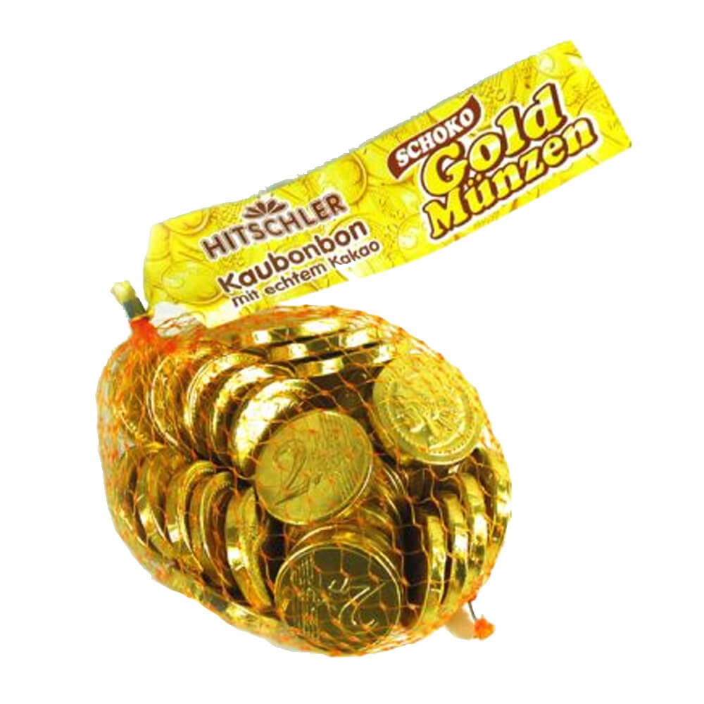 Hitschler Gold Chocolate Coins 130g