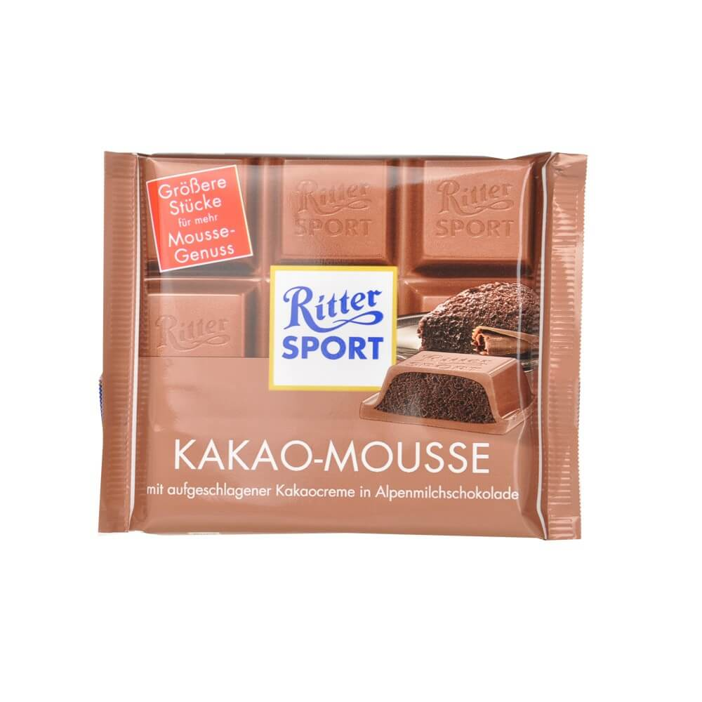 Ritter Sport Milk Chocolate with Cacoa Mousse Filling 100g