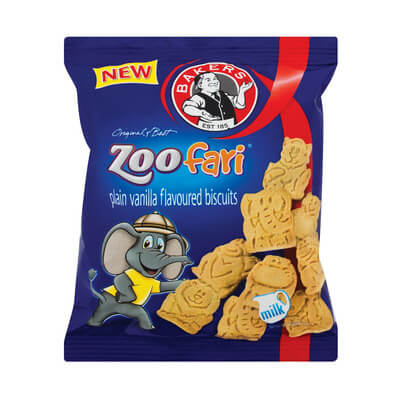 Bakers Zoofari - Mini Biscuits Bag 40g