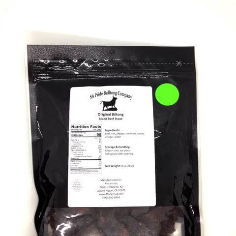 SA Pride Biltong - Original Lean Sliced Beef Steak Biltong 0.5lb - African Hut