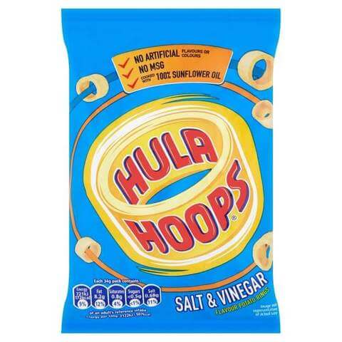 KP Hula Hoops - Salt and Vinegar Potato Rings 34g