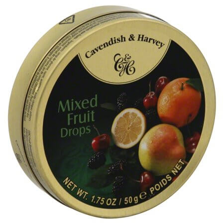 Cavendish and Harvey Small Mixed Fruit Drops Tin 50g