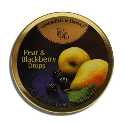 Cavendish and Harvey Small Pear and Blackberry Drops Tin 50g