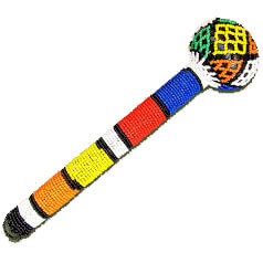 African Hut Beaded Baton (Colours Vary) 100g