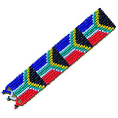 African Hut South African Flag Beaded Bookmark 25g