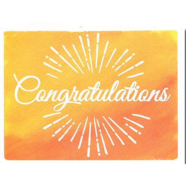 "Greeting Card CONGRATULATIONS (4"" X 6"") 10g"