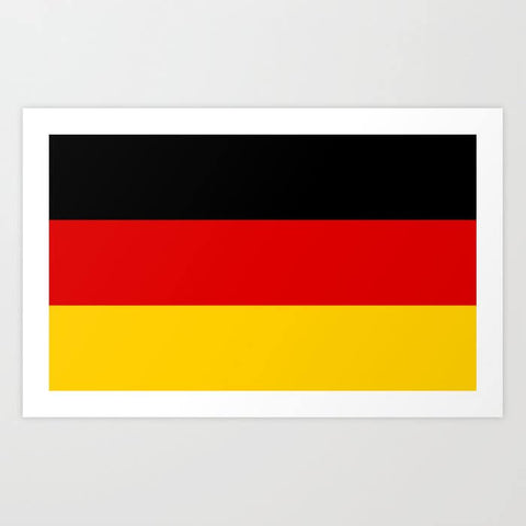 German Flag Note Card 18g