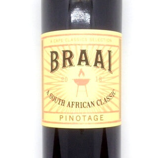 Braai Wine - Pinotage 2018 750ml - African Hut