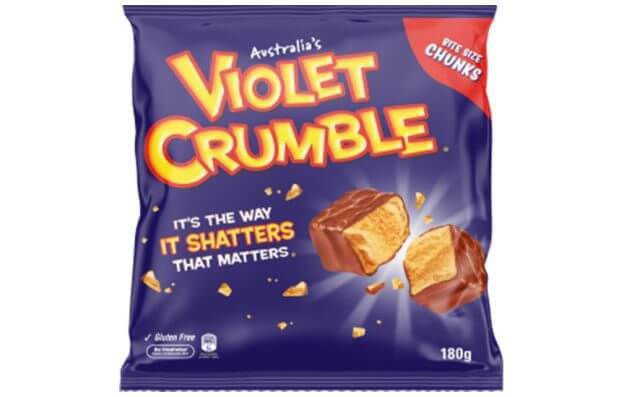 Nestle Violet Crumble Chunks 170g