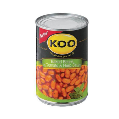 Koo Baked Beans - with Tomato and Herb (Kosher) 410g