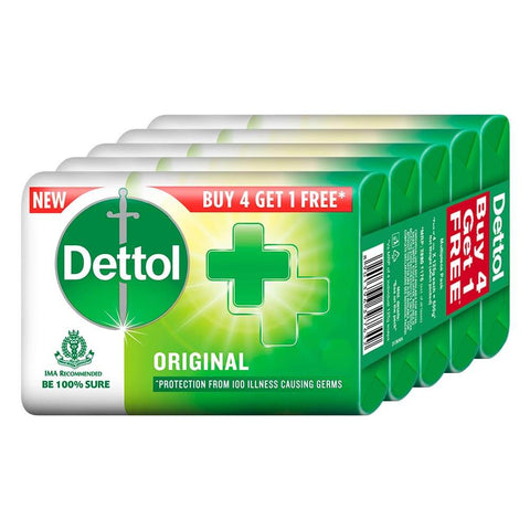 Dettol Soap Bars (Pack of 5) - Original 625g