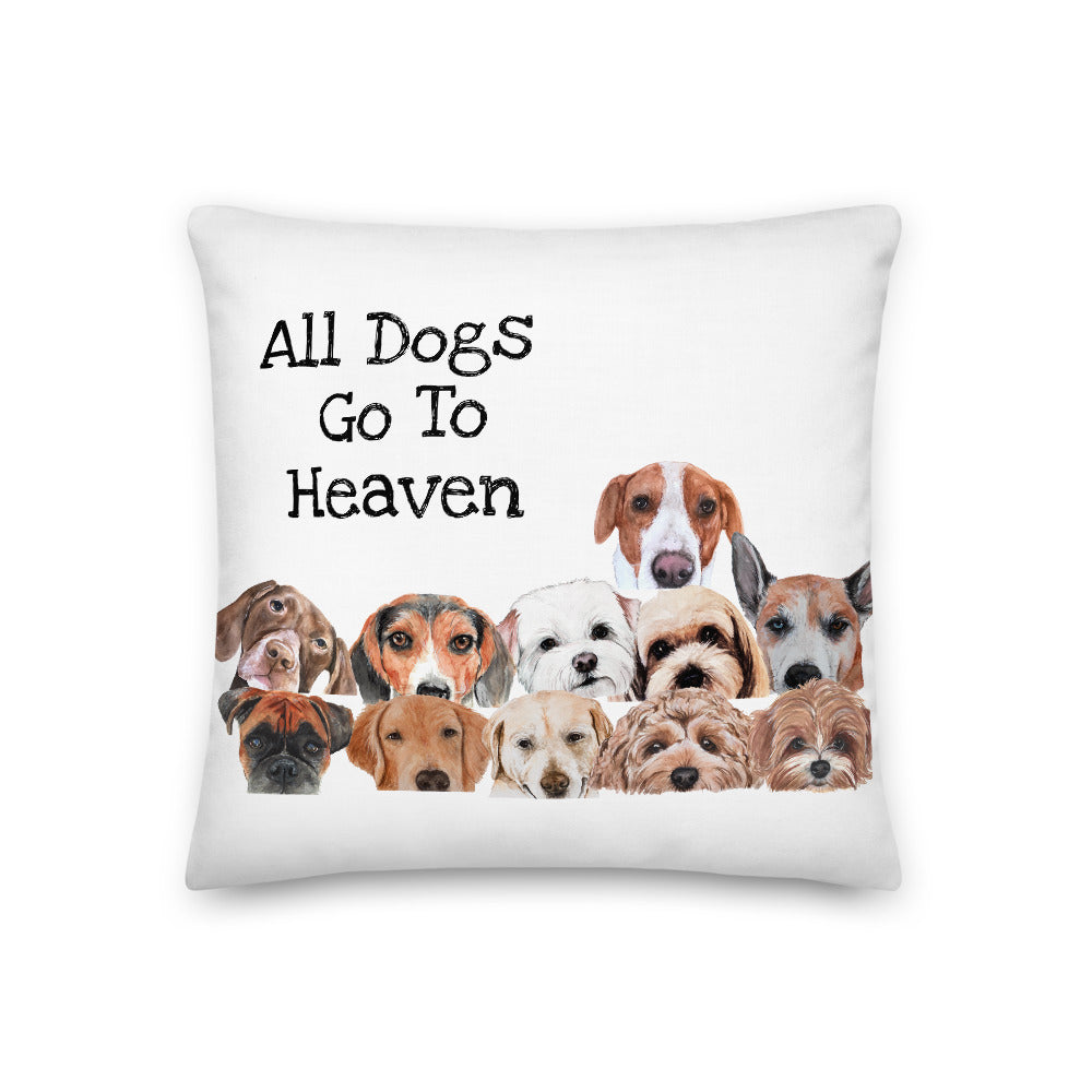 All Dogs Go To Heaven Premium Pillow