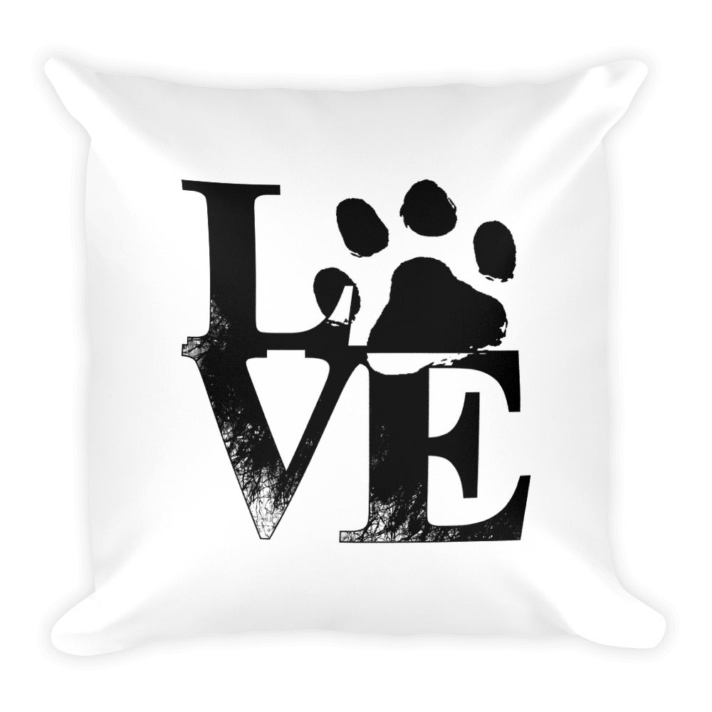 """Love Paw Print Pillow"""