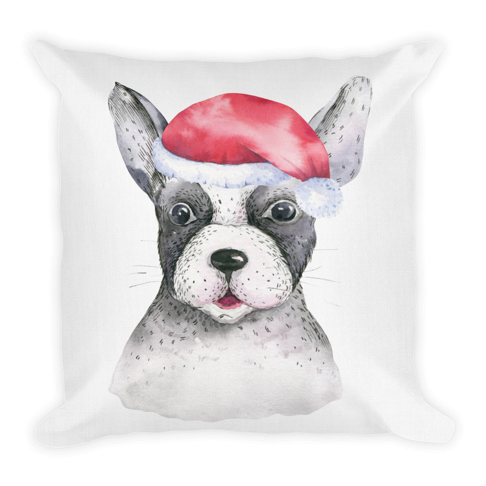 """Cute Dog Holiday"" Premium Pillow"