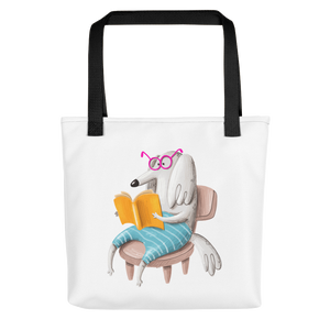 The Reading Dog Tote bag