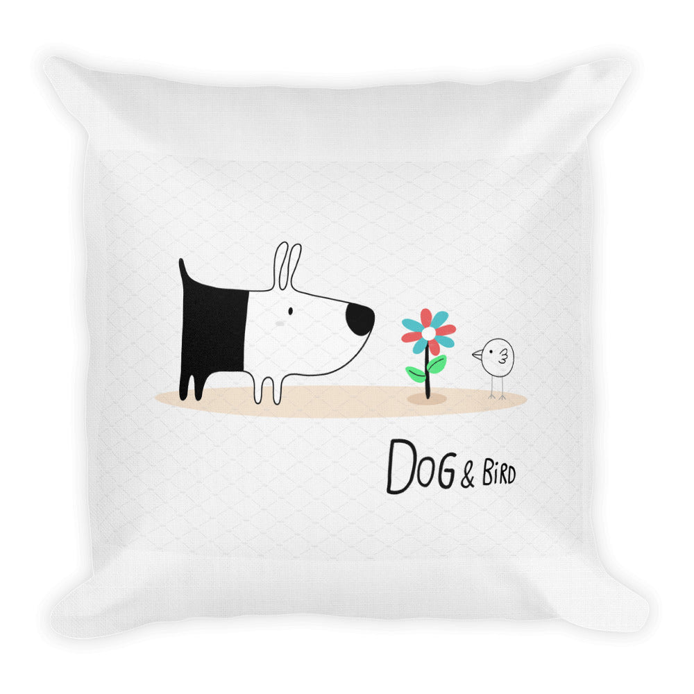 """Dog and Bird Premium Pillow"""
