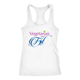 Vegetarian and Fit Logo 2 Racerback Tank