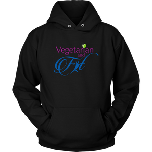 Vegetarian and Fit Logo 2 Hoodie