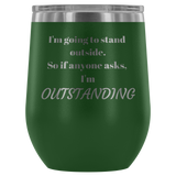Outstanding Etched Wine Tumbler