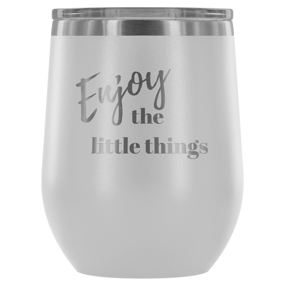 Enjoy Etched Wine Tumbler