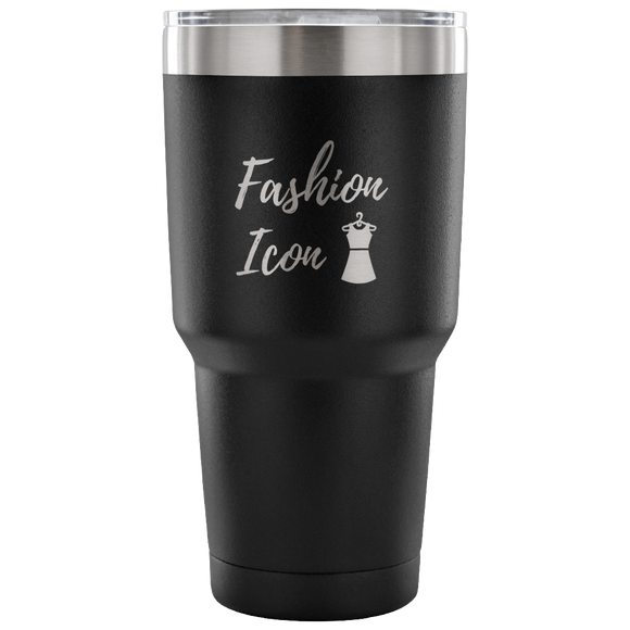 Fashion Icon Etched Tumbler
