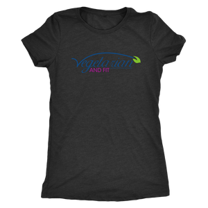 Vegetarian and Fit Logo 1 Triblend Tshirt