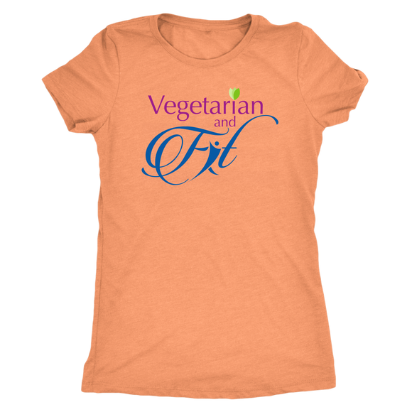 Vegetarian and Fit Logo 2 Triblend Tshirt