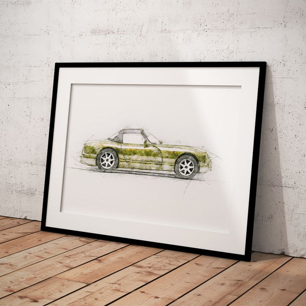 "TVR Chimaera - Yellow - A3/A4 Print ""Sketch"""