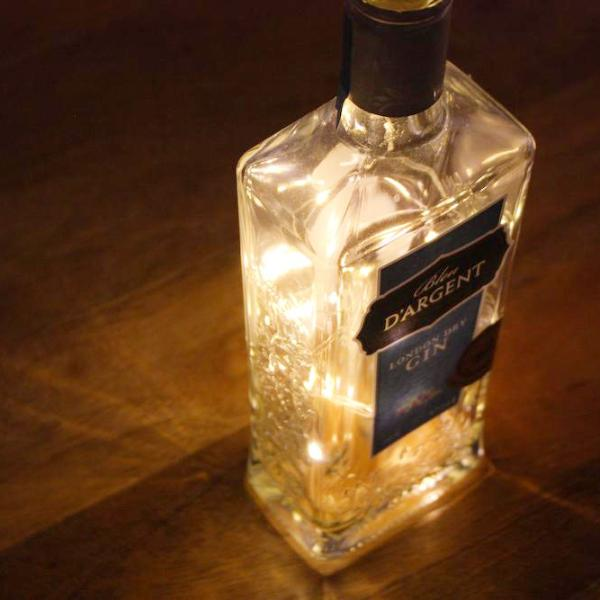 """Bleu D'Argent"" Gin Bottle Light"