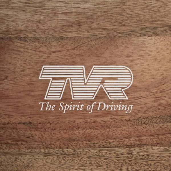 "TVR - ""The Spirit of Driving"" logo with slogan"