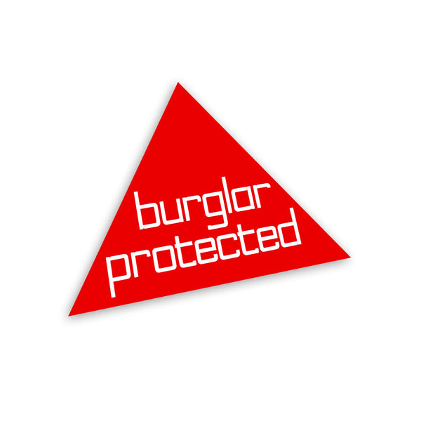 """Burglar Protected"" - as seen on James Bond's Lotus Esprit"