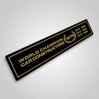 Lotus World Champion Constructors 1978 vintage style sticker
