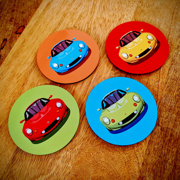"Lotus Elise S1 ""favourite colours"" coasters"