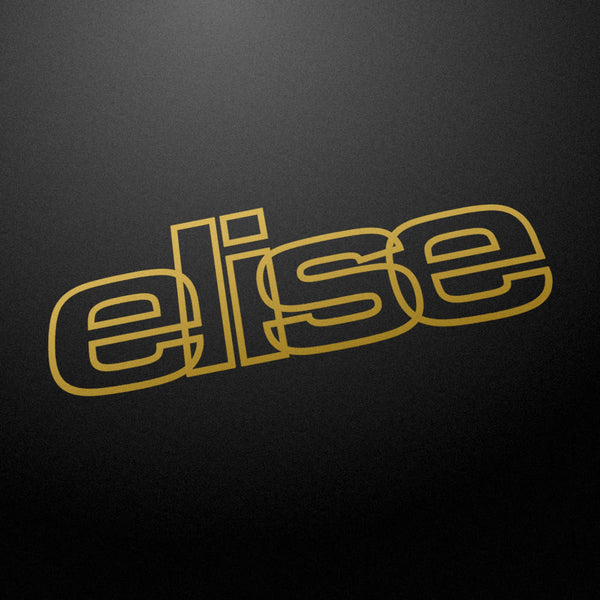"""elise"" 80s style retro decal"