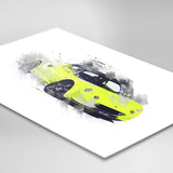 "Lotus Elise S1 - Scandal Green / black - A3/A4 Print ""Splatter"""