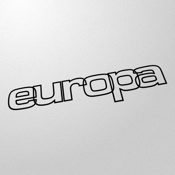 """europa"" 80s style retro decal"