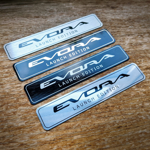 "EVORA ""Launch Edition"" mini-plaque"