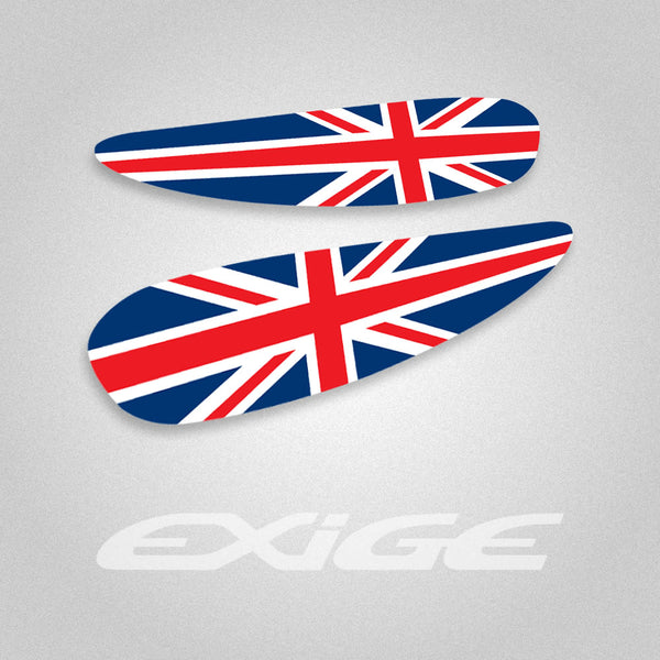 Lotus Exige S1 Union Jack Spoiler End Plate decals