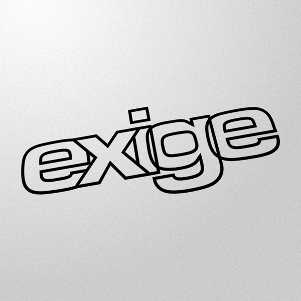 """exige"" 80s style retro decal"