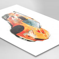"Lotus Exige S1 - Chrome Orange / Black - A3/A4 Print ""Paint"""