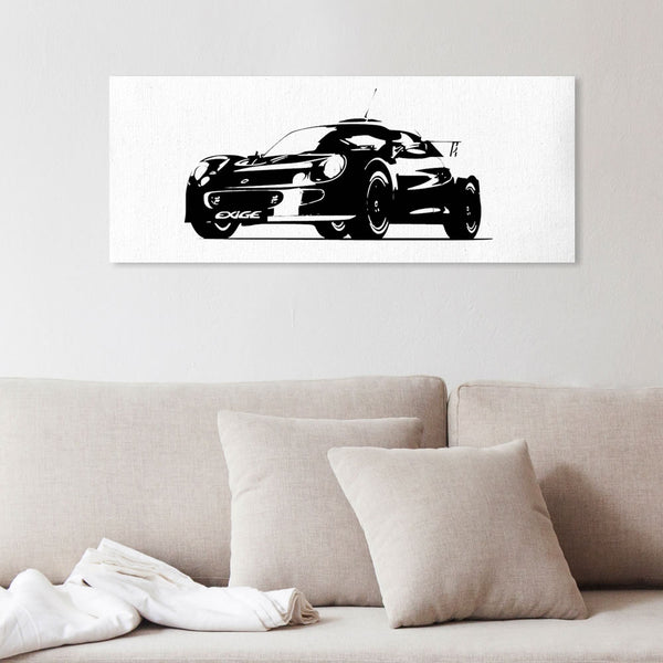 Exige S1 silhouette canvas art (alternate)