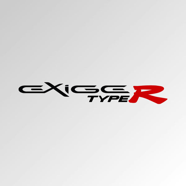 EXIGE TYPE R decal - for Lotus Exige S2