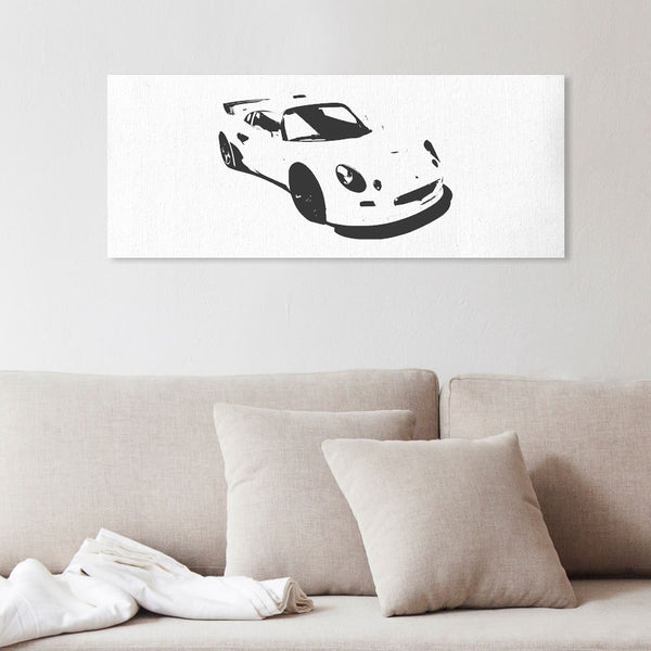 Exige S1 silhouette canvas art