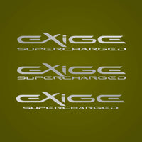 EXIGE SUPERCHARGED custom decal