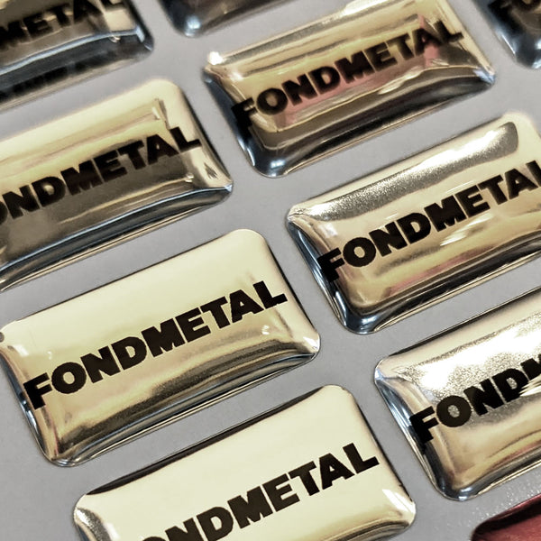 FONDMETAL 3D domed mini-badge