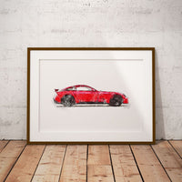 "TVR Griffith 2018 - Red - A3/A4 Print ""Watercolour"""
